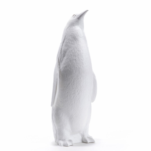 Penguin head up white
