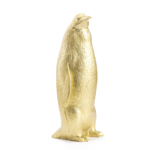 Penguin head down gold
